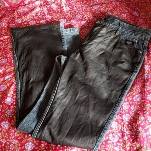 Harley Davidson denim and leather pants size 12